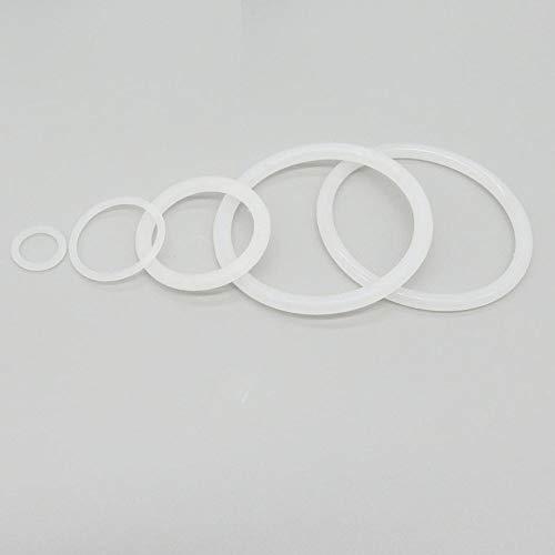 Wnuanjun Transparente Juntas tóricas de Silicona Anillo de Goma Grado Food Grommet 1,5 mm Espesor 29/30 / 31/32/33/35/38/40/42 mm OD Seals Empaque Arandela (Color : 31x28x1.5mm, tamaño : 50pcs)