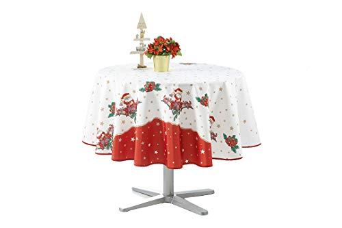 Mantel de Navidad rectangular antimanchas – Papá Noel (Redondo 160)
