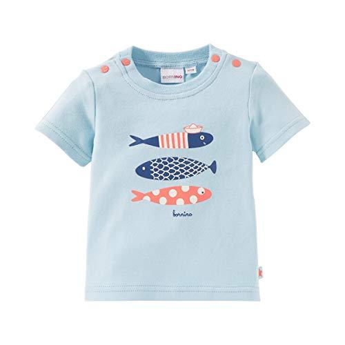 Bornino T-Shirt Poissons Top bébé vêtements bébé, Bleu Ciel