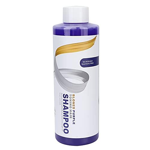 Purple Shampoo, 500ml Purple Shampoo Elimina Quitar el color amarillo del cabello Blanqueado Champú resaltado