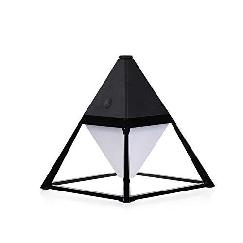 Piramidevorm nachtlampje, dimbaar gekleurd LED-licht USB-opladen geschikt voor het verzenden van creatieve eenvoudige cadeaulampen voor familie en vrienden zwart