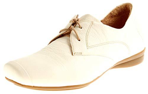 Think! 88120 Damen Halbschuhe Sommer Schnürer Damenschuhe Sneaker Schuhe Leder Creme EU 38