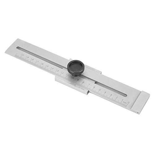 Regla recta deslizante precisa métrica Regla de marcado paralelo Acero al carbono Medidor de escribas paralelo para constructores de carpintero (0-200 cartón de acero al carbono)