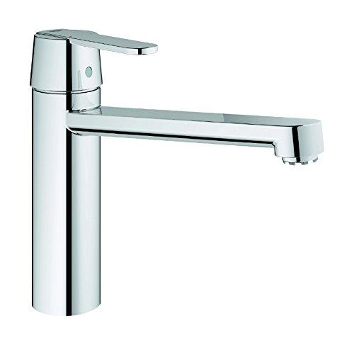 Grohe 09589 1 Get 30197 Einhandmischer mit mittel hohem Auslauf für Spüle, Chrom, Küchenspüle | Niederdruck