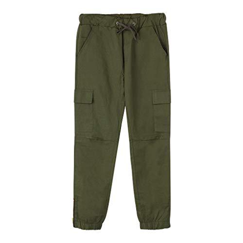 Homme Trouser Bluestercool Liquidation Pantalons de Sport Casual Couleur Unie Pantalon Cargo Style Militaire Jeans