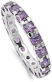 Special sale item Precious Gem Jewellers Sterling Princ February Birthstone Popularity Silver