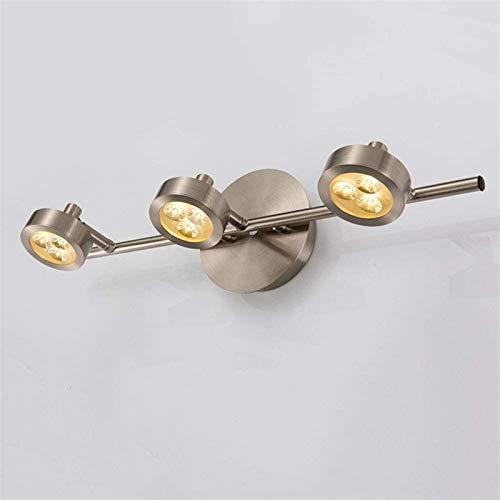 ZAMAX Lámparas de Pared industriales, Espejo luz LED Impermeable Anti-Niebla Espejo Multi-Cabezal Luces de gabinete de baño Lámpara de Pared de Estudio, neutralcolor, 45cm3heads Lámparas de Pared