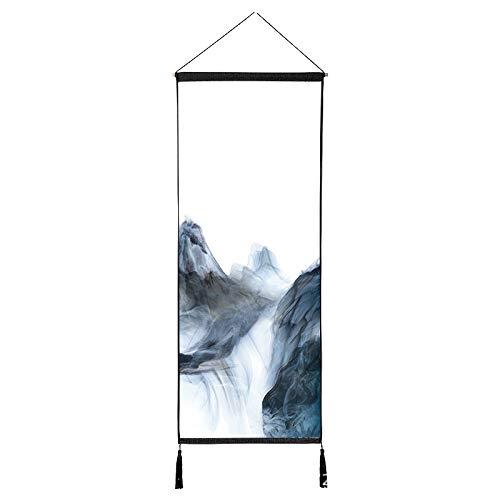 Rauch Landschaft Serie malerei dekorative malerei Schlafzimmer Wohnzimmer Veranda Restaurant quaste Baumwolle leinen hängen Tuch Q 120 * 45 cm