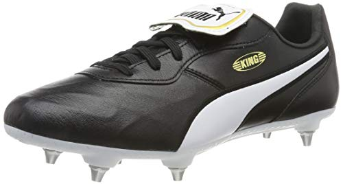 PUMA King Top SG, Zapatillas de fútbol Unisex Adulto, Negro Black White, 39 EU