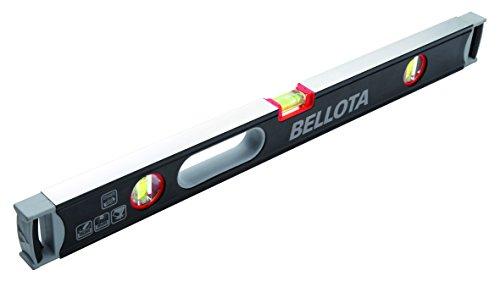 BELLOTA 50107-100 Extra Strong waterpas 100 cm stalen buis met flacon gevoeligheid van 0,5 mm/m en gebruiksvriendelijke versterkte handgrepen