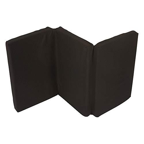 Nattou Matelas épais pour lit parapluie, Pliable, Épaisseur 5 cm, Avec housse de transport, 120 x 60 x 5 cm, Noir
