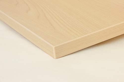 Schreibtischplatte 140x80 aus Holz DIY Schreibtisch direkt vom Hersteller vielseitig einsetzbar - Tischplatte Arbeitsplatte Werkbankplatte mit 125kg Belastbarkeit & Kratzfestigkeit - Birke