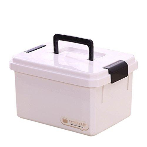 MAJOZ0 Hausapotheke, Schachtel Medizinbox, Kiste Medikamente,Erste Hilfe Koffer mit Deckel für Medikamente Aufbewahrung und Transport, Kunststoff