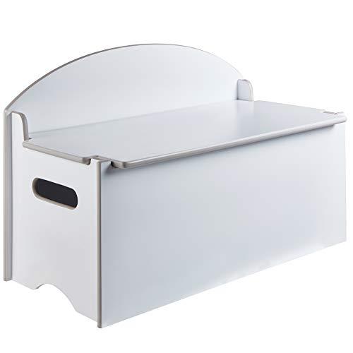 Hello Home 538GWH Banco juguetero Color Blanco: baúl con Asiento para Dormitorio Infantil, Tamaño aproximado: 45 cm (Altura) x 70 cm (Anchura) x 35 cm (Fondo)