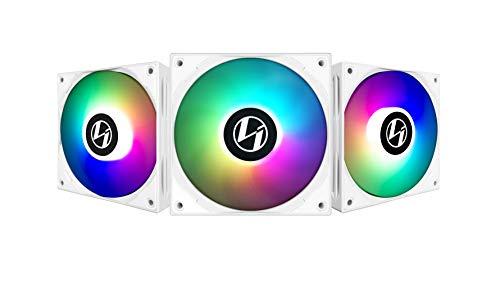 Lian-Li ST120 RGB PWM Lüfter, 3er Pack mit Controller – 120 mm, weiß
