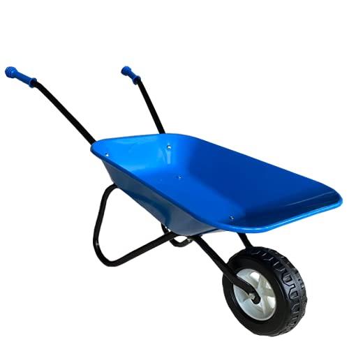 ASC Brouette en métal pour enfant Bleu/noir