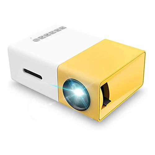 ZXNRTU Impresionante calidad de imagen Proyector portátil de video LED con proyección para niños presentes, película de Video TV, juego de fiestas, entretenimiento al aire libre con interfaces HDMI US