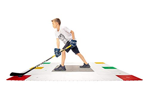 Hockey Revolution 360 Zone Professional Training Flooring Tile - Improve Stick-Handling and Moving, Speed on Ice, Exercise, Fitness - Indoor and Outdoor Practice Zone with Trainer App