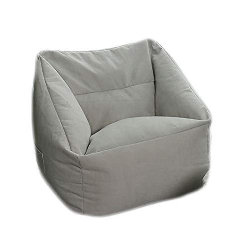 LDIW Indoor Sitzsack Hülle ohne Füllung, Premium Sitzsack Außenbezug Aufbewahrungssofa Schonbezug mit Seitentaschenideal für Jugendliche und Erwachsene,Light Gray