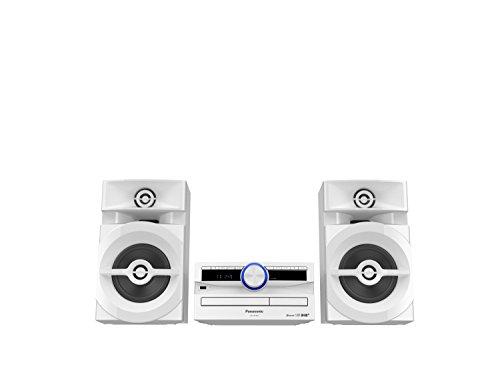 Panasonic SC-UX104EG-W CD-Micro-Musik (Bluetooth, Tuner (DAB+/FM), USB, AUX-IN, DJ Jukebox, 300 Watt RMS) weiß