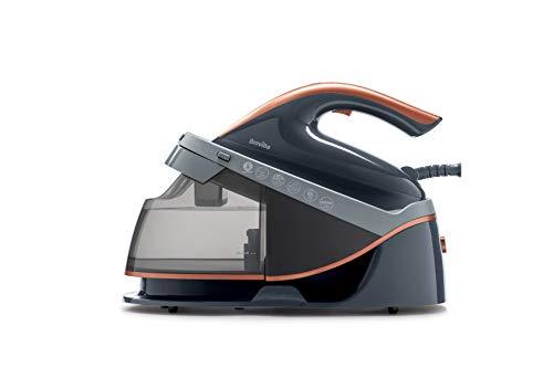 Breville plancha con generador de vapor PressXpress soleTEMP | 2600 W | Suela de cerámica | Depósito de agua extraíble | Gris y oro rosa [VIN411X]