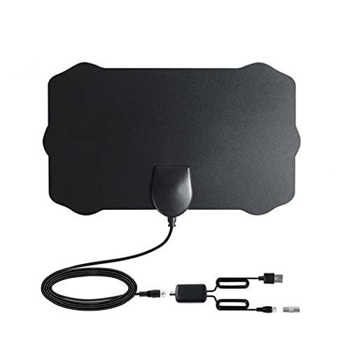 Antena de TV Digital HDTV Cubierta Amplified Antenas TDT Arial 980 Millas de Alcance presión de la señal del Amplificador para los Canales Locales Negro Multifuncional Accesorios Vida