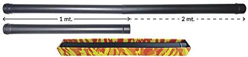 Schwarz Rohr Teleskopelement 1 bis 2 mt. DN 80 emaillierte lackiert lackiert 600 Grad 600 Grad Pelletofen Holz schwarz Rohr EC Made in Italy