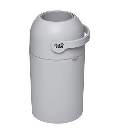 Vital Baby HYGIENE Système d'élimination des odeurs sans recharge, sans odeur, poubelle, gris,...