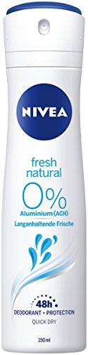 Nivea FRESH NATURAL spray deodorant 0% Aluminum 150ml