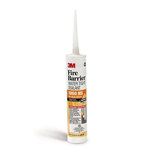 3M Fire Barrier Water Tight Sealant 1000 NS, Gray, 10.1 fl oz Cartridge