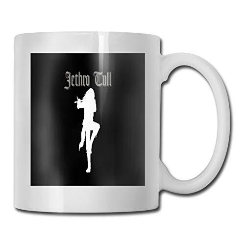 Taza de cerámica de moda taza de café taza de porcelana taza de viaje de regalo de vajilla de 11 oz Jethro-Tull Logo