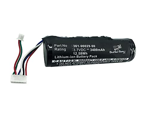 Batería con collar de identificación para Garmin DC40 y DC30 – Dressage GPS de localización de perro de caza – GPS de geolocalización