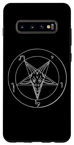 Galaxy S10+ Seal Of Baphomet Occult Satanic Pentagram Goat of Mendes Case