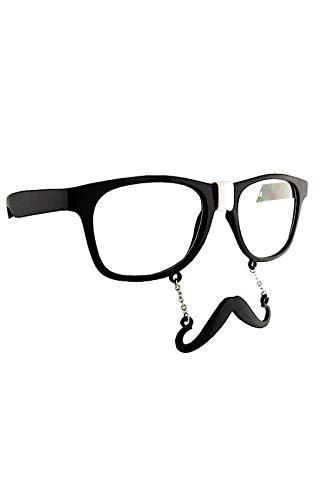 Horror-Shop Augengläser mit Hipster Bart