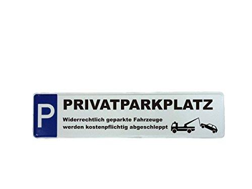 Parkplatzschild Privatparkplatz Schild Parken verboten Abschleppen 460 x 110 mm