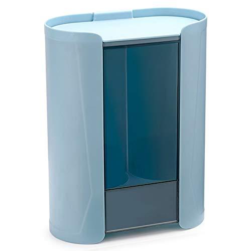 LUO Estantes flotantes Taza plástica Estante montado en la Pared de Almacenamiento Taza no Perforado desechable Estante de Rejilla de múltiples Funciones (Color : Blue)
