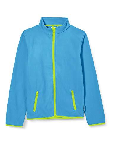 Playshoes M dchen Fleece-jacke Farbig Abgesetzt Jacke, Aquablau, 80 EU