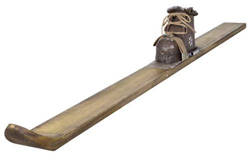 Christmas Paradise Weihnachtlicher Deko-Ski Handgefertigt aus Holz Länge 103cm Braun