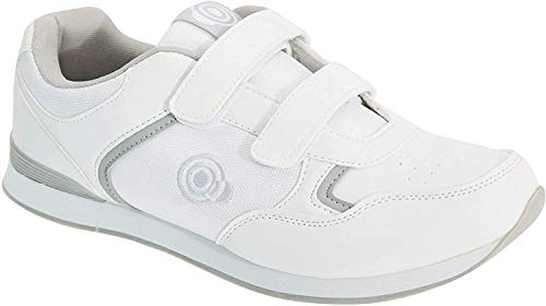 Dek Mens Drive Touch Fastening Sneaker-Style Bowling Shoes (11 US) (White/Gray)