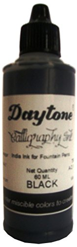 Daytone Calligraphy Ink Black 60 Ml. Pack of 15
