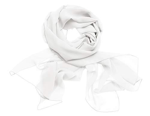 Dresstells Chiffon Schal Stola für Abendkleider in Verschiedenen Farben Ivory 190cmX70cm/ Medium