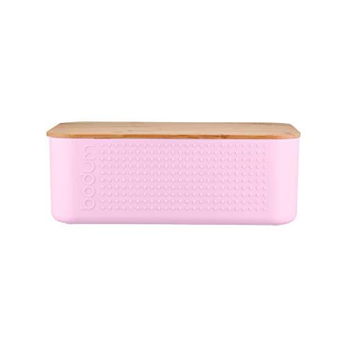 Bodum Bistro - Cassetta portapane, plastica bambù, Rosa, Large