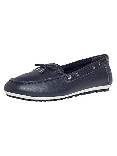TAMARIS Damen 1-1-24603-24 805 Flacher Slipper, Navy, 38 M EU