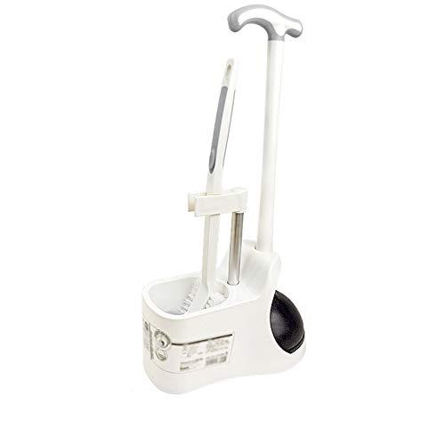 YI0877CHANG spazzolone WC Set di Spazzola igienica Multifunzionale con Toilette DRANGE e Base WC Assistente di Pulizia della Toilette Brush Brush (Bianco) scopino WC