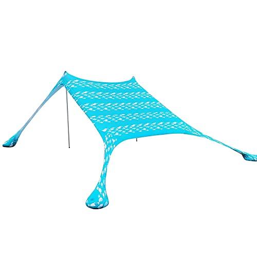 SFWEFWFAFAF El toldo está hecho de tela Oxford gruesa con revestimiento impermeable y resistente al desgaste, puede bloquear la lluvia de rayos UV, apto para navegar, acampar, autoconducción