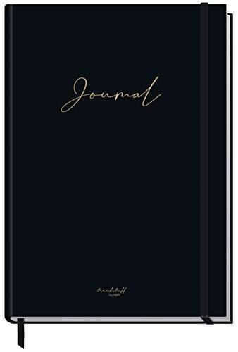 Bullet Journal dotted A5 mit Gummiband [Black Edition] 156 Seiten | Notizbuch gepunktet, Tagebuch von Trendstuff by Häfft | nachhaltig & klimaneutral