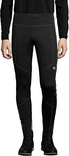 Ultrasport Advanced Pantaloni da sci di fondo da uomo Avers, pantaloni da neve idrorepellenti e antivento, pantaloni funzionali, per sport invernali e attività outdoor, Nero/Neon Giallo, 2XL