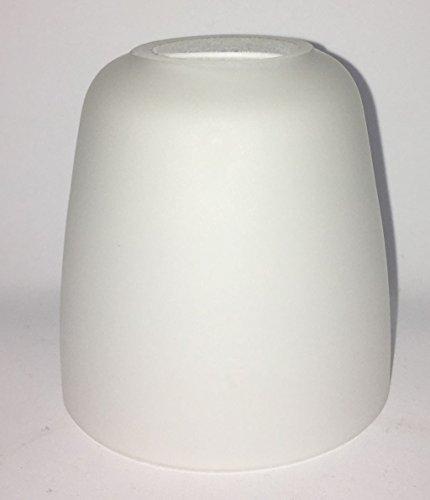 Lampenglas Lampenschirm E14 opalfarbig weiß 80mm weiss KK33