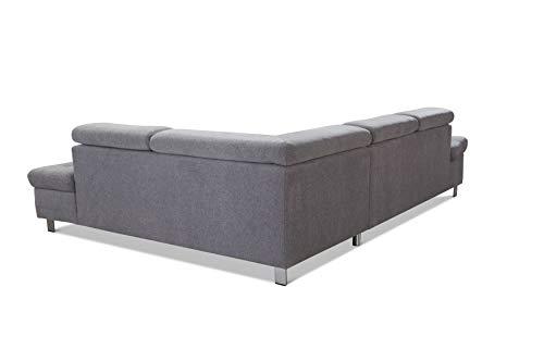 "Ecksofa günstig: Cavadore Sofa ""I"" in L-Form /   Ottomane Bild 5*"