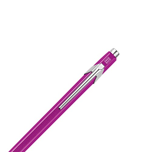 Caran D'ache 849 Popline Metal x Violet Ballpoint Pen with Metal Case (849.850) Photo #3